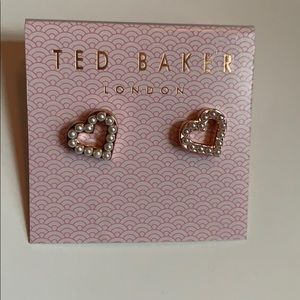 Ted Baker London Heart Shaped Earrings New
